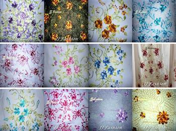 JJ Fashion Silk Telekung Color Design A